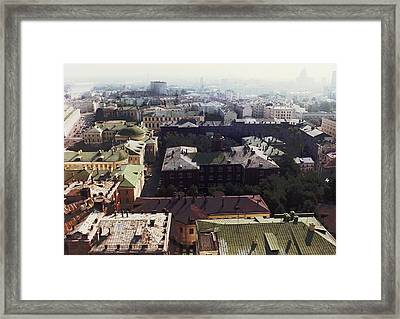 forbidden view over Moscow Framed Print by Nafets Nuarb