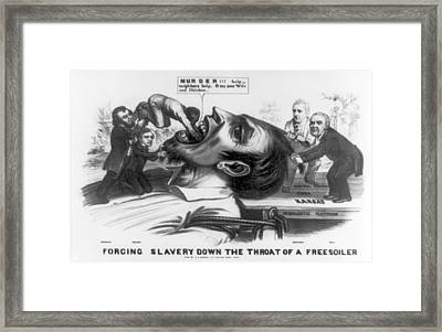 Forcing Slavery Down The Throat Framed Print