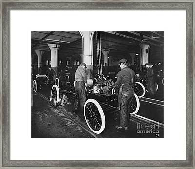 Ford Assembly Line Framed Print by Omikron