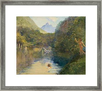 Ford At The Upper End Of The Vai-te-piha Framed Print by John LaFarge