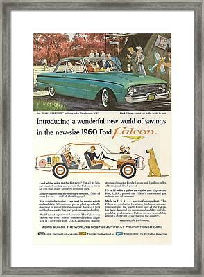Ford Falcon Framed Print by Georgia Fowler