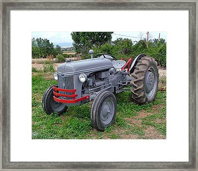 Ford Farm Tractor  Framed Print by Ken Smith