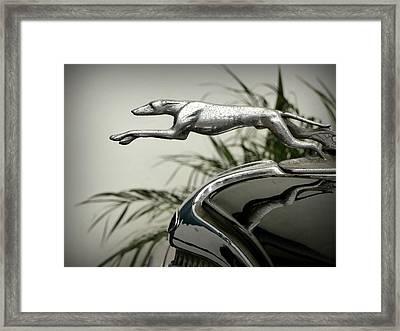Ford Greyhound Radiator Cap Framed Print by Karyn Robinson