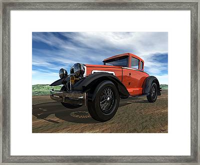 Framed Print featuring the digital art Ford Model A by John Pangia