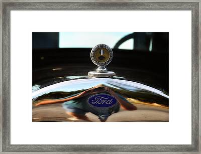 Ford Model T Hood Ornament Framed Print by Bill Cannon