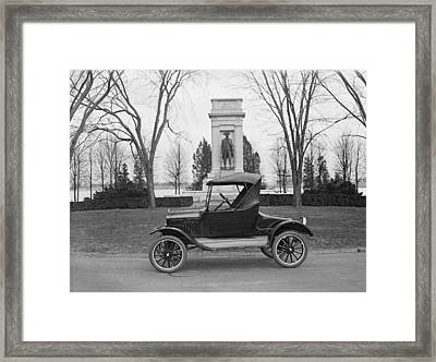 Ford Model T, Roadster With A Single Framed Print by Everett