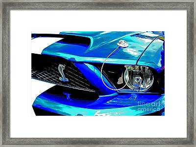 Framed Print featuring the digital art Ford Mustang Cobra by Tony Cooper