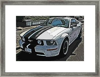 Ford Mustang Gt No. 2 Framed Print by Samuel Sheats