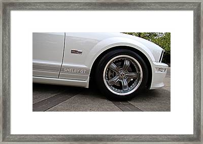Framed Print featuring the photograph Ford Shelby Gt by Nick Kloepping