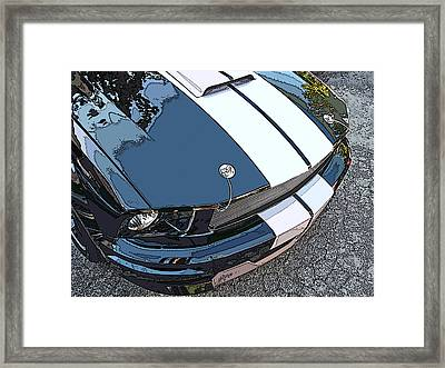 Ford Shelby Gt Nose Study Framed Print by Samuel Sheats