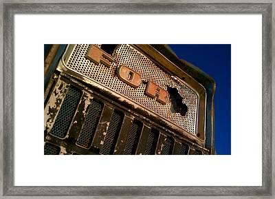 Ford Tractor Framed Print by Emma Quedzuweit
