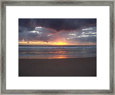 Framed Print featuring the photograph Foreboding Sky by Sheila Silverstein
