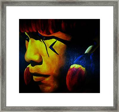 Foreign Face Paint Framed Print