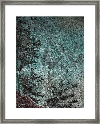 Forest Abstract Framed Print by Eena Bo