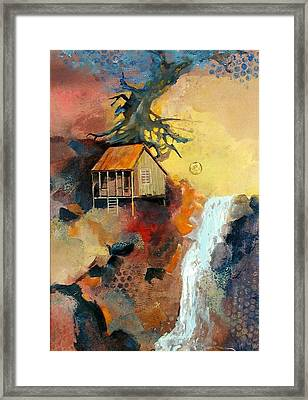 Forest Bungalow Framed Print