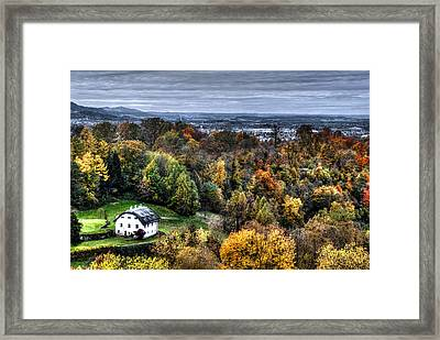 Forest Cottage Framed Print by Anthony Citro