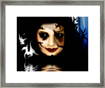 Framed Print featuring the painting Forest Dweller by Susan  Solak