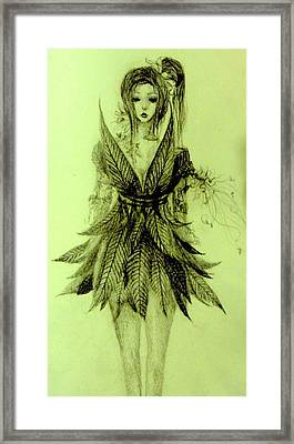 Forest Fairy Framed Print by Melissa Cabigao