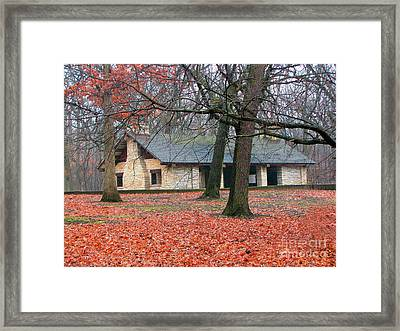 Forest Field House 1 Framed Print by Cedric Hampton