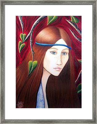 Framed Print featuring the drawing Forest Fire by Danielle R T Haney