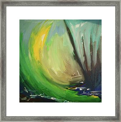 Framed Print featuring the painting Forest Morning by Jan Swaren