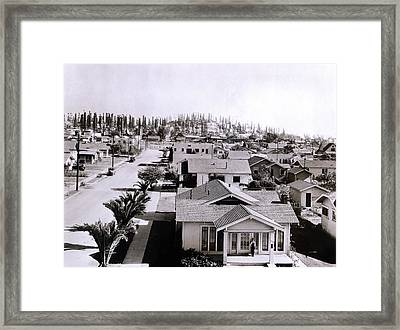 Forest Of Derricks In The Signal Hill Framed Print by Everett