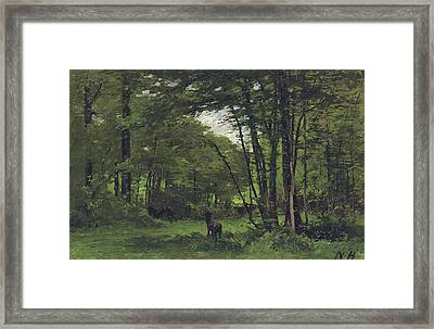 Forest Of Fontainebleau Framed Print by Nathaniel Hone