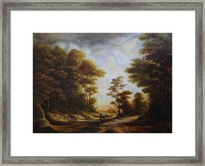 Forest Road Framed Print by Dan Scurtu