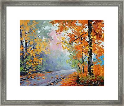 Forest Road Framed Print by Graham Gercken