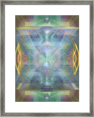 Forested Chalice II In The Flower Of Life And Vortexes Framed Print