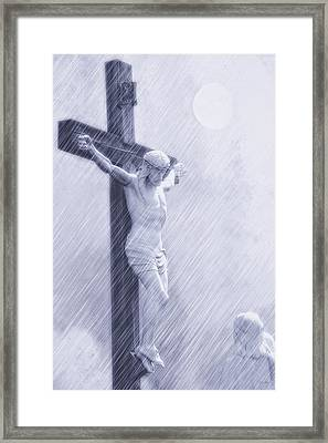 Forgive Them Father Framed Print by Tom York Images