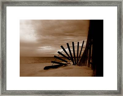 Forgotten Beach Framed Print