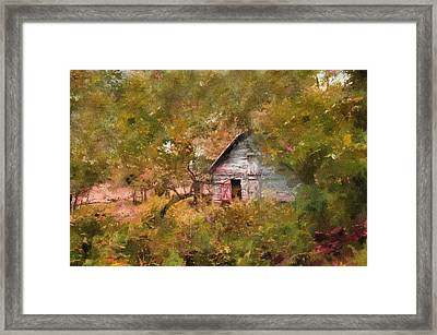 Forgotten Cottage From Yesteryear Framed Print by Georgiana Romanovna