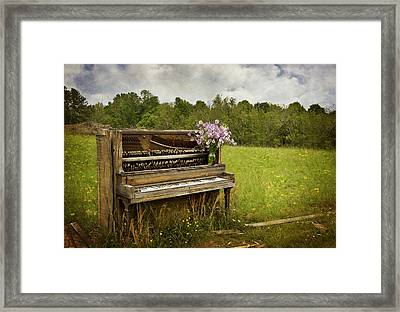 Forgotten Tunes Framed Print by Kathy Jennings