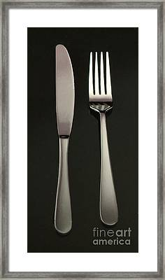 Fork And Knife - Painterly Framed Print by Wingsdomain Art and Photography