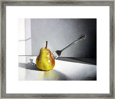 Fork And Pear Framed Print