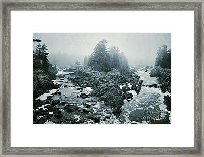 Fork In The Fog Framed Print