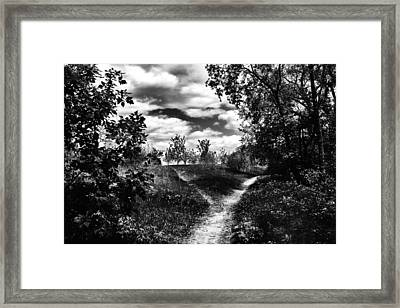 Fork In The Path Framed Print by Karen Dawson