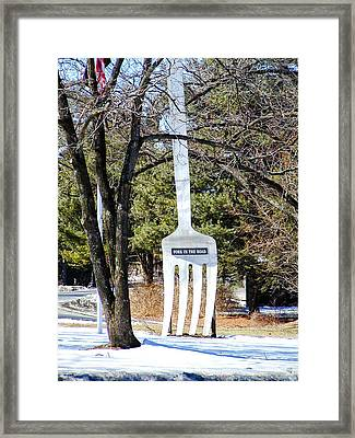 Fork In The Road Framed Print