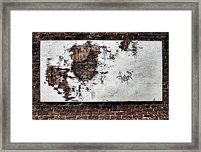 ...forlorn And Torn Framed Print by Russell Styles