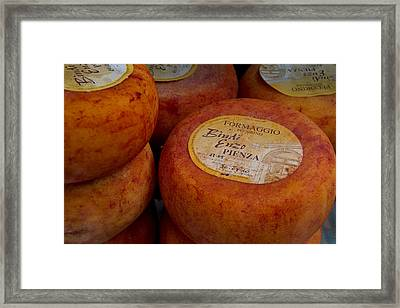 Formaggio Cheese Of Italy Framed Print by Roger Mullenhour