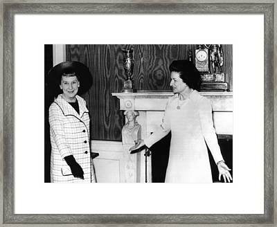 Former First Lady Mamie Eisenhower Framed Print