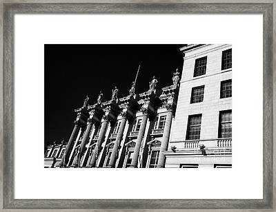 Former Headquarters Of The British Linen Bank Now Offices Of The Bank Of Scotland Edinburgh Scotland Framed Print by Joe Fox