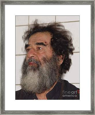 Former Iraqi Leader Saddam Hussein Framed Print