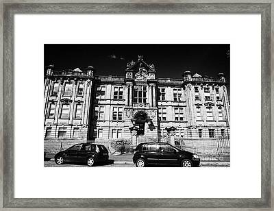 Former Kilmarnock Technical School And Academy Building Now Academy Apartments Scotland Uk Framed Print by Joe Fox