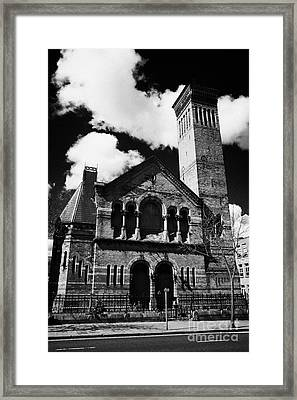 former methodist church now derelict on university road Belfast Northern Ireland UK Framed Print by Joe Fox