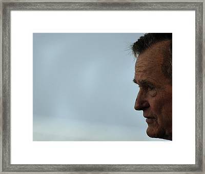 Former President George H.w. Bush Framed Print by Everett