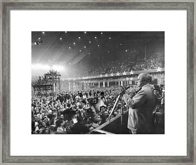 Former President Harry Truman Framed Print by Everett