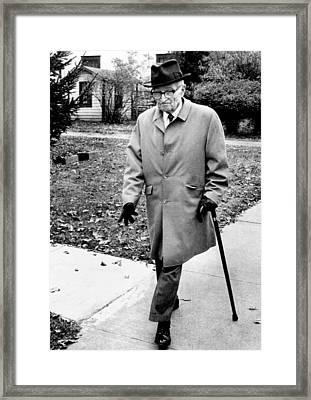 Former President Harry Truman Walks Framed Print by Everett