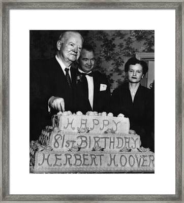 Former President Herbert Hoover Left Framed Print by Everett